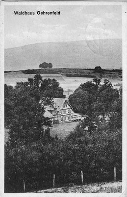 Oehrenfeld, 1929, Pension Waldhaus, mit dem Karberg