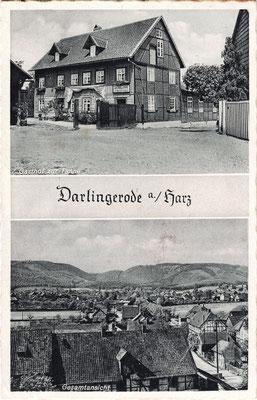Darlingerode, 1937, mit Gasthof zur Tanne