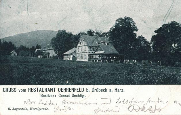 Oehrenfeld, 1905, Pension Waldhaus