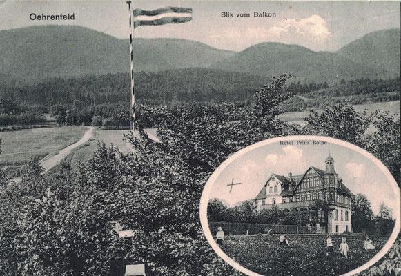Oehrenfeld, 1914, Hotel Prinz Botho