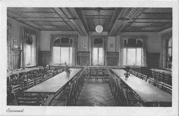Oehrenfeld, nach 1933, NSV-Heim, Speisesaal