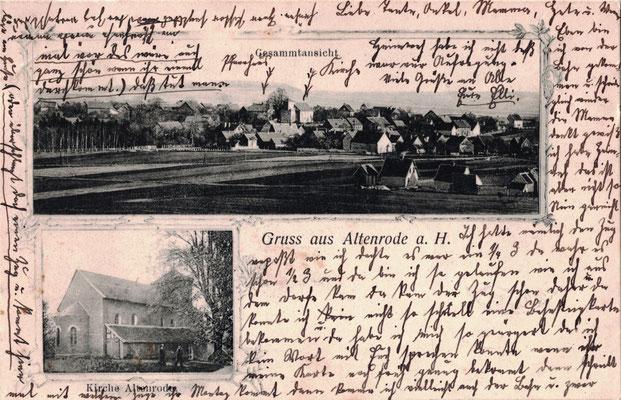Altenrode, 1906, Blick vom Karberg und Katharinenkirche