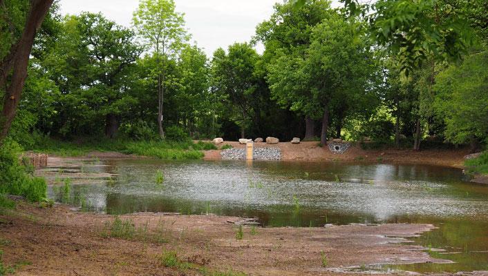 Das Wasser steigt, aber die Trockenheit macht vieles zunichte...
