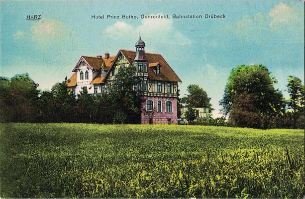 Oehrenfeld, um 1910, Hotel Prinz Botho