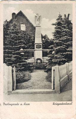 Darlingerode, um 1930, Denkmal