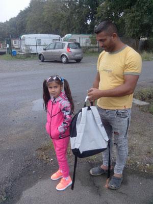 Alexandra avec son papa, Marinica