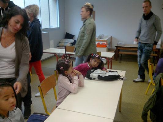 Alexandra en classe de CP