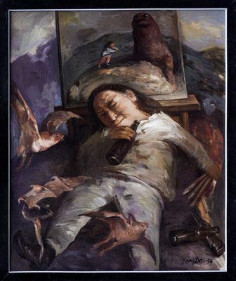 Der betrunkene Maler // The drunken painter // 喝醉酒的画家, 2013, 120 x 100 cm