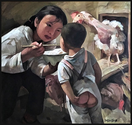 Retrospektiv (Meine Schwester) // Retrospective (My sister) // 回顾系列-我的姐姐, 2003, 80 x 80 cm