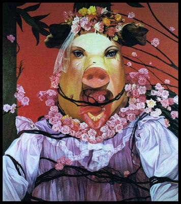 Miss Piggy // 猪小姐, 1995, 180 x 160 cm