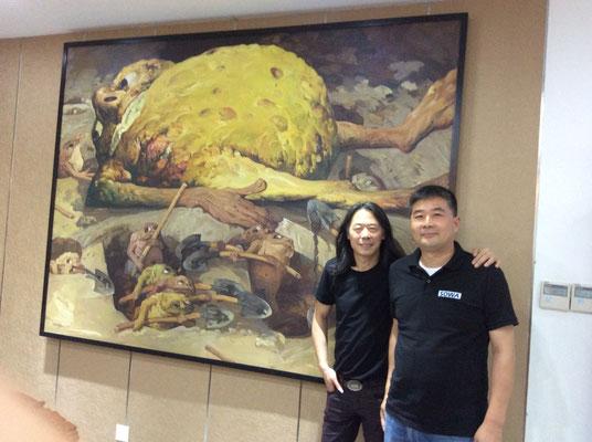"""Yongbo Zhaos Bild """"Man bekommt ihn einfach nicht unter die Erde"""" im Imperial Edict Museum, Xuzhou (Foto: Klaus Kiefer)"""