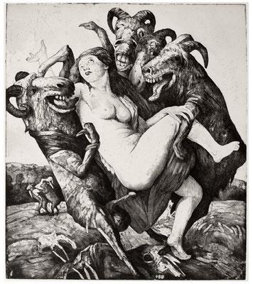 Raub der Sabinerinnen // The rape of the Sabines // 强抢莎宾女, 2006, 33,5 x 29,5 cm