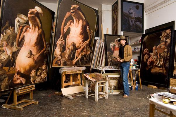 Im Domagk Atelier in München (Foto: Jakob Schmidt)