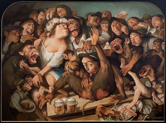 Veni, vidi, vici (Bayerische Leidenschaft III) // Veni, vidi, vici (Bavarian Passion III) // 我来,我见,我征服 (巴伐利亚州人的激情 之三), 2009, 180 x 240 cm