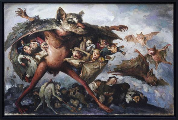 Zum Teufel mit den verirrten Seelen // To hell with the lost souls // 丢失灵魂的魔鬼, 2017, 160 x 240 cm