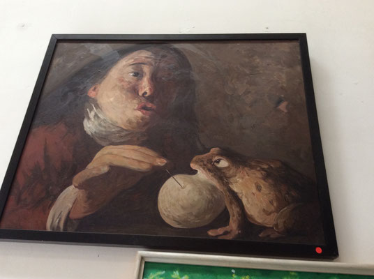 One of the paintings by Yongbo Zhao at the Sanmu Art Gallery, Art Zone 798, Beijing