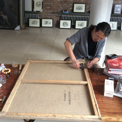 Unpacking the paintings