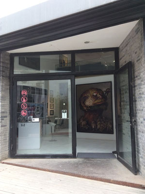 Sanmu Art Gallery, Kunstbezirk 798, Peking, mit Einzelausstellung Yongbo Zhao (Foto: Klaus Kiefer)