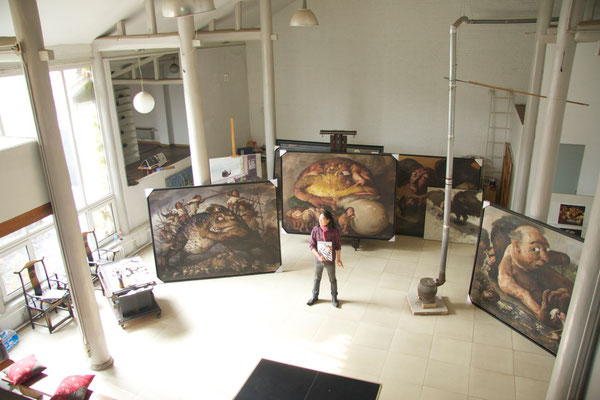 Yongbo Zhao in seinem Atelier in Peking (Foto: Klaus Kiefer)