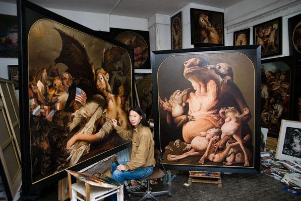 In the Domagk studio in Munich (Photo: Jakob Schmidt)