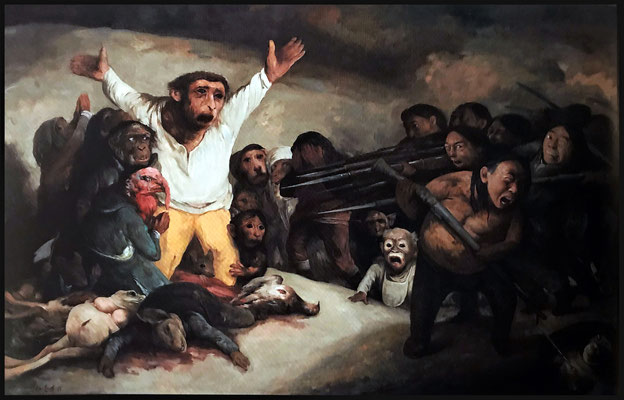 Die Erschießung der Rechtlosen oder Hommage an Goya // The execution of those without rights or Homage to Goya // 枪杀无辜还是敬仰格雅, 2013, 180 x 280 cm