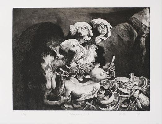 Geiermensch II // Vulture man II // 秃鹫人 (之二), 2007, 44,5 x 59 cm