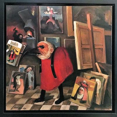 Bosch oder Die Galerie der Versuchungen // Bosch or The gallery of temptations // 画廊的诱惑, 2017, 80 x 80 cm