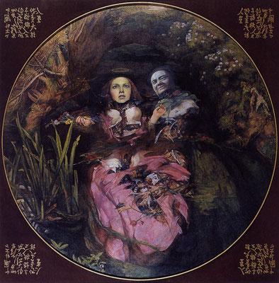 Ophelia und Mao II // Ophelia and Mao II // 欧菲莉亚和毛 (之二),  2000, 180 x 180 cm