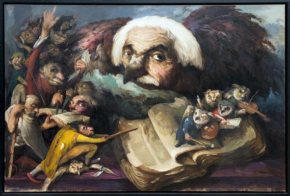 Die Feinde der Weisheit II // The enemies of wisdom II // 文明最大的敌人是愚蠢 (之二], 2017, 160 x 240 cm
