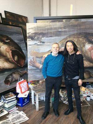 With his gallerist Klaus Kiefer, 2015