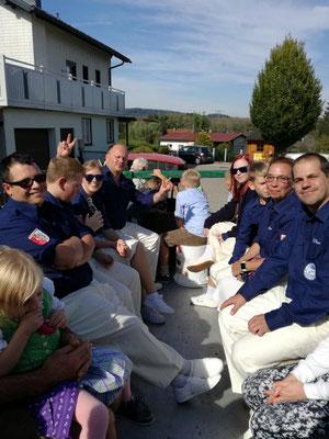 Nach den Auftritt mit Kraxenberger Toni´s Traktor durch Braunau