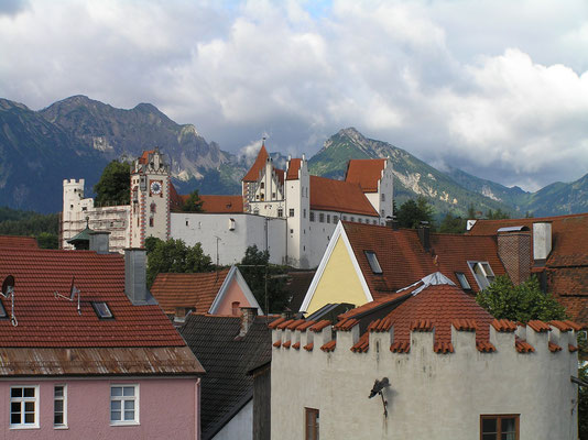Füssen, Schloss der Bischöfe von Augsburg