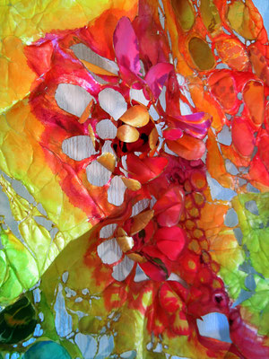detail drieluik zomerbloei tyvek-zijde