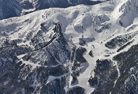 Skigebiet Speikboden©: Panoramablick auf die Pisten und Hänge des Skigebietes Speikboden