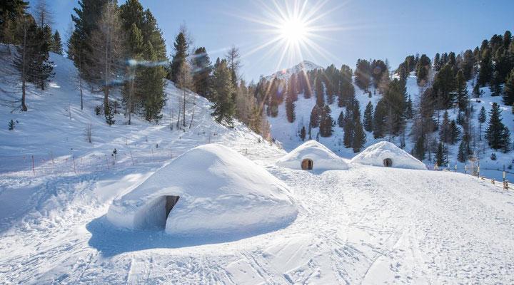 (c) Kreaktiv: Die Mountain Iglus bei der Bergstation Speikboden im Ahrntal