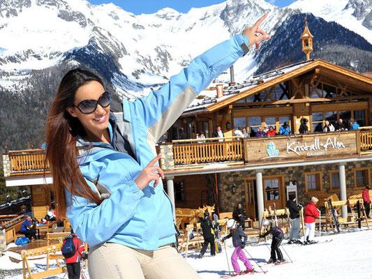 Kristallalm im Skigebiet Klausberg im Ahrntal / Südtirol - gewählt zur schönsten Skihütte