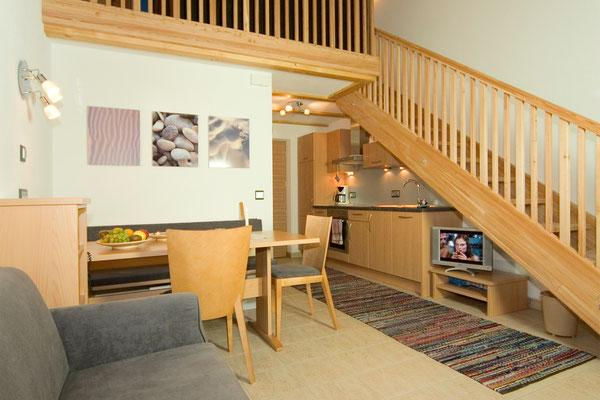 Ferienwohnung Krokus II im Haus Appartements Großgasteiger in der Alpinwellt Weißenbach im Ahrntal / Pustertal / Südtirol