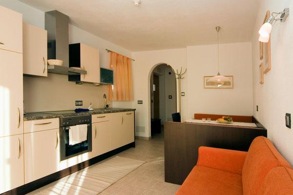 Ferienwohnung Krokus I im Haus Appartements Großgasteiger in der Alpinwellt Weißenbach im Ahrntal / Pustertal / Südtirol