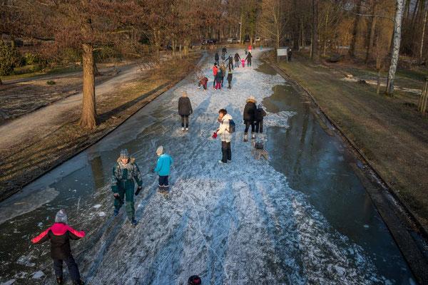 Schlittschuhlaufen im Spreewald