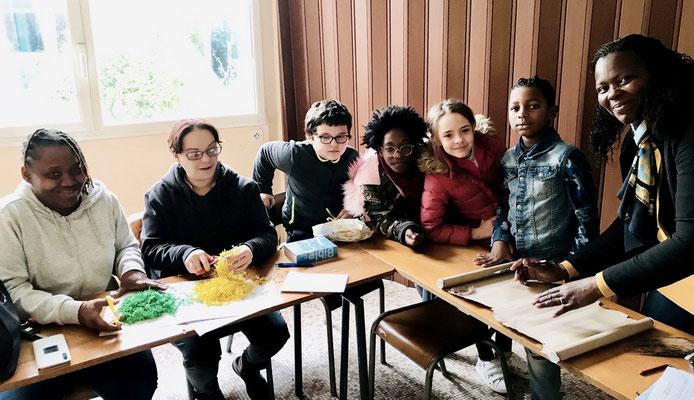 Avec Elisabeth dos Santos (2ème à partir de la gauche) et Irène (à l'extrême droite)
