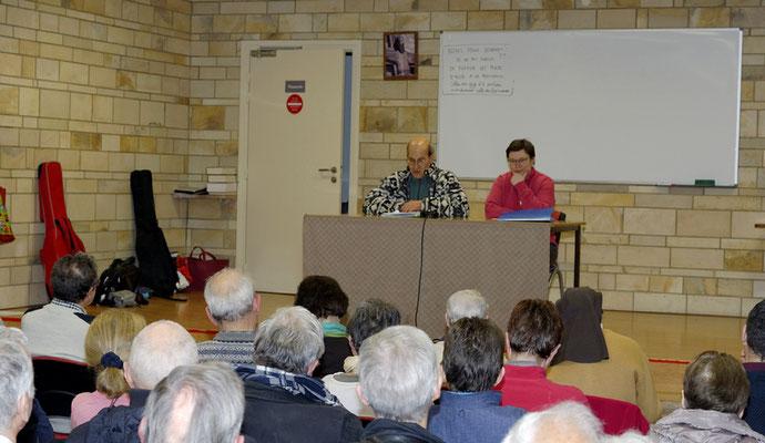 L'exposé de Frère Emmanuel Derken porte sur l'Église verte