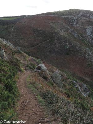 Der Fernwanderweg entlang der Küste