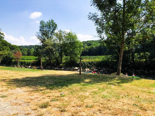 Der Campingplatz in Durbuy direkt an der Ourthe