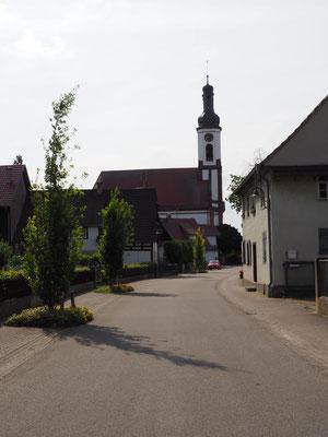 Die Kirche Meißenheim immer im Blick
