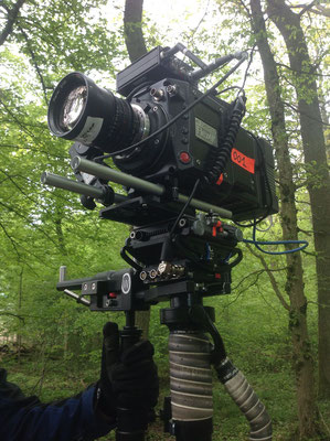 Steadicam with PhantomFlex 4K on the set of the Rosport 2017 commercial