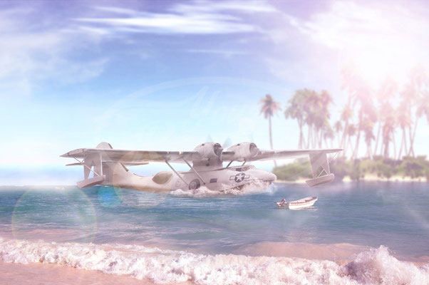 Consolidated Catalina, Flugzeug, Wasserflugzeug, Oldtimer