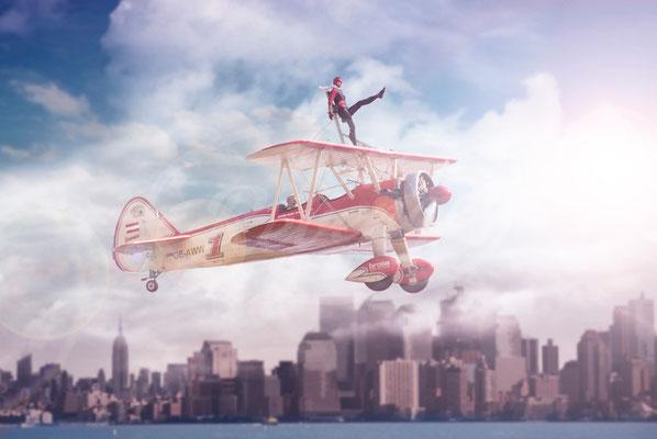 Peggy's WingWalkers, Wing walking, Boeing Stearman, New York