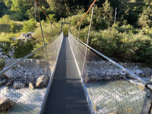 Un pont suspendu qui bougeait pas mal