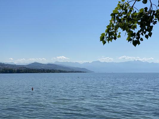 J'arrive au lac Léman