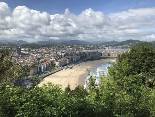 Belle plage à Donostia-San Sebastian.